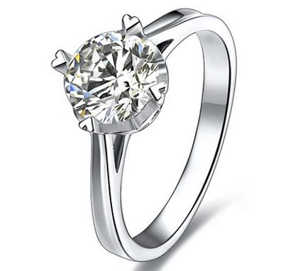 【爱之悸动】 白18K金50分/0.5克拉钻石女士戒指