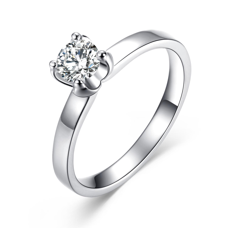 》》点击进入【雪旋】 白18K金35分/0.35克拉钻石女士戒指