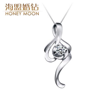海盟婚钻钻石吊坠官网价格款式图片