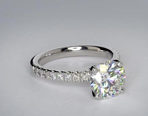 铂金钻石戒指款式大全 铂金钻石戒指款式欣赏图片
