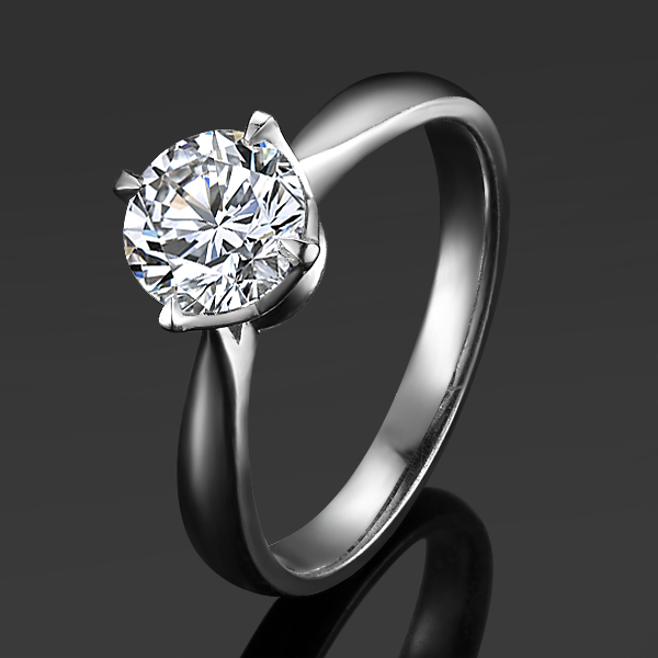》》点击进入【清澈星光】 白18k金60分/0.6克拉钻石戒指
