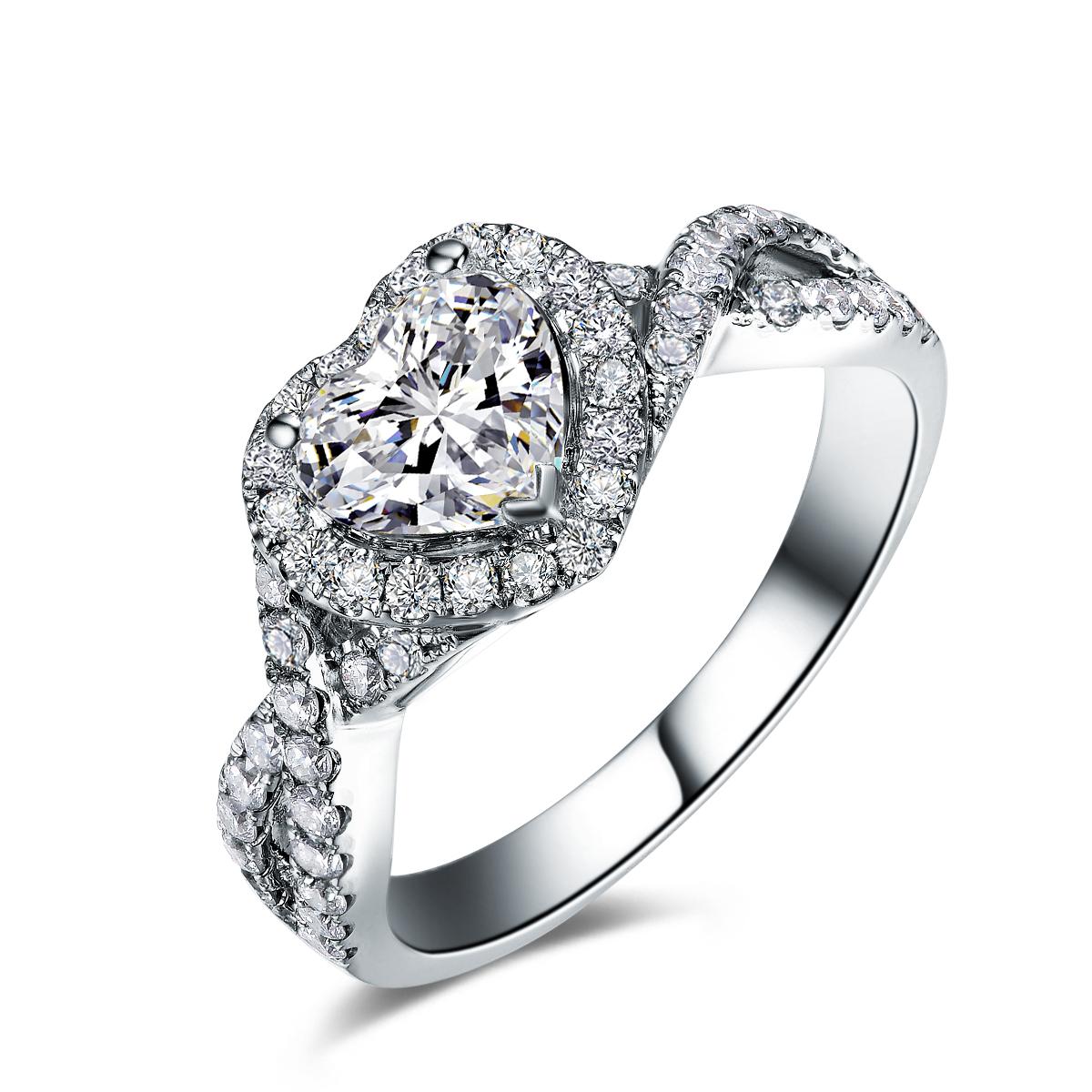 》》点击进入【初心】 白18K金50分/0.5克拉钻石女士戒指
