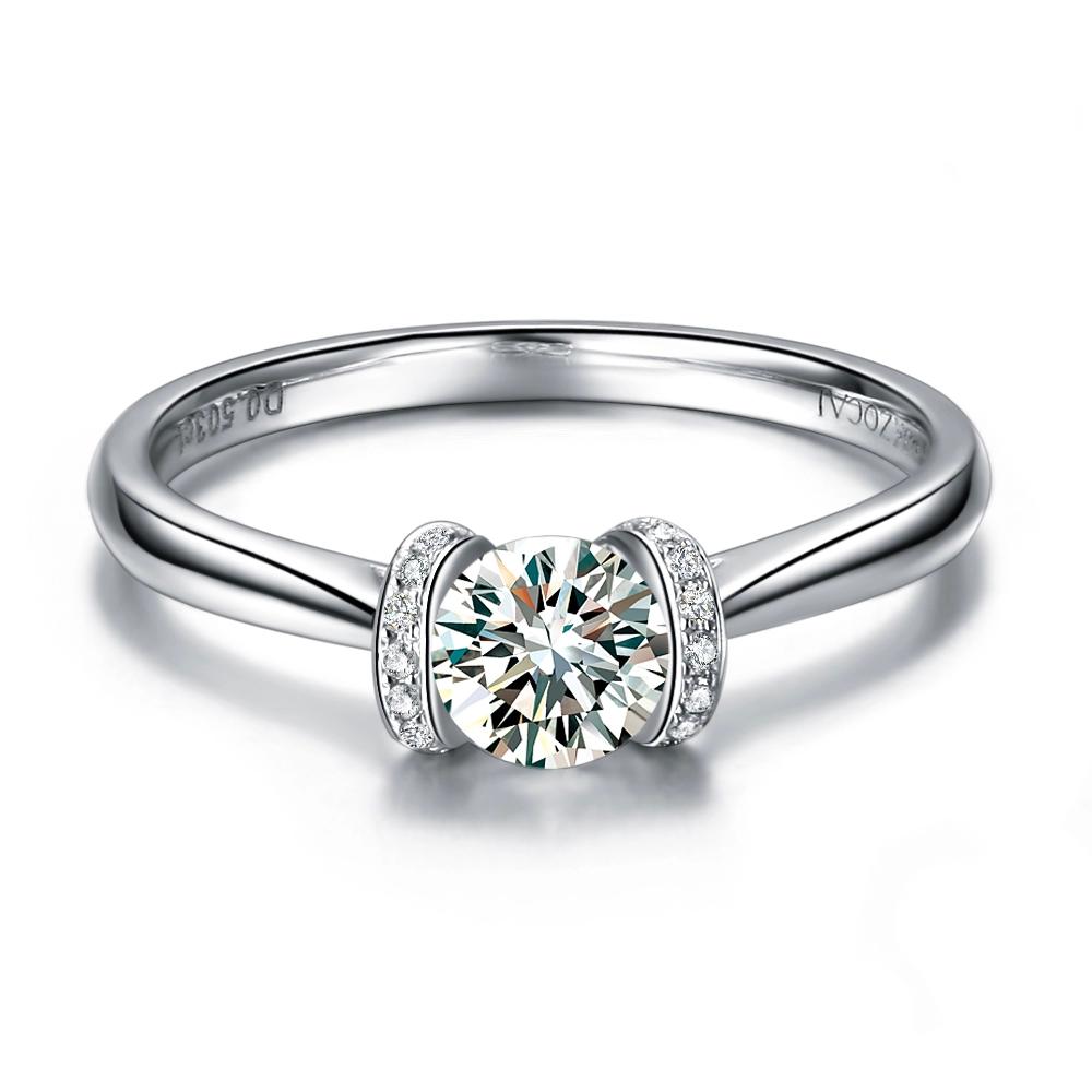 Au750钻石戒指最新款式图片