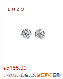 ENZO18K白金31分钻石耳钉