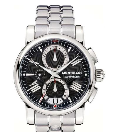 Mont Blanc 万宝龙 男士黑色圆形自动手表