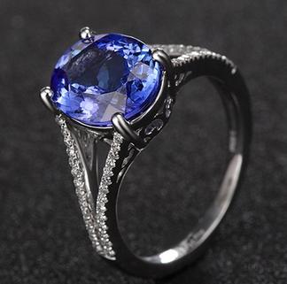 泰合珠宝坦桑石戒指