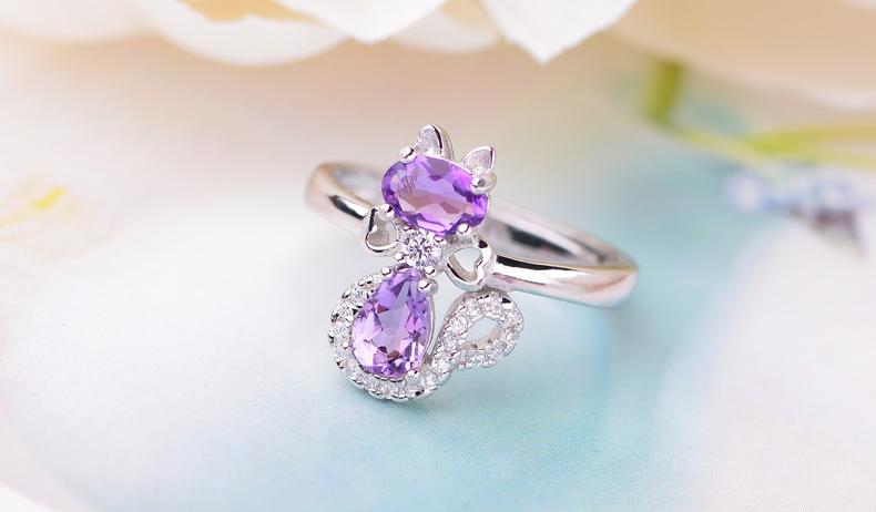 水晶戒指最新款式图片