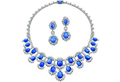 蓝宝石项链价格