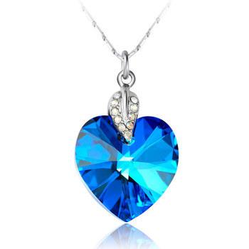 蓝水晶吊坠