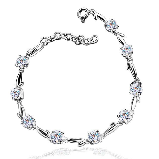 白金手链,钻石手链