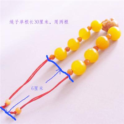 串珠手链的接口活扣编织还是有一定难度的