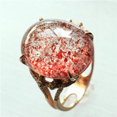 草莓晶戒指