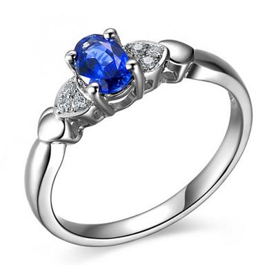 彩宝,蓝宝石,佐卡伊戒指