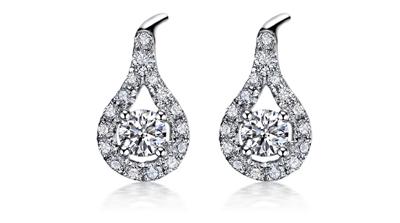 钻祺珠宝钻石耳钉,耳钉,佐卡伊耳钉