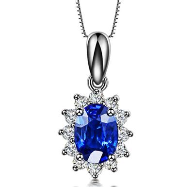 蓝宝石钻石吊坠,吊坠,佐卡伊吊坠