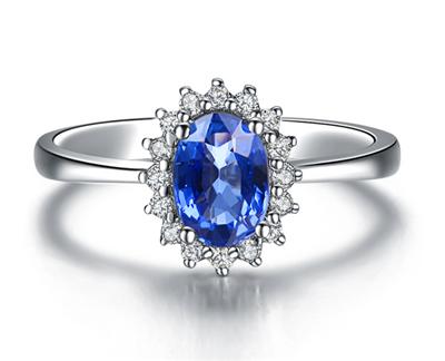 蓝宝石钻戒,蓝宝石,佐卡伊钻戒