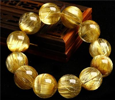 金色水晶手链