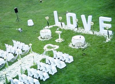 就要看你的户外婚礼方案够不够创意了!图片
