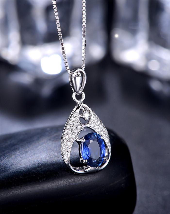 吊坠,宝石吊坠,蓝宝石吊坠
