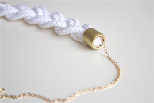 项链编织绳编法图解 项链编织绳编法教程