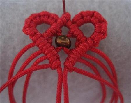 时尚心形手链编法图解 漂亮心形手链编法教程
