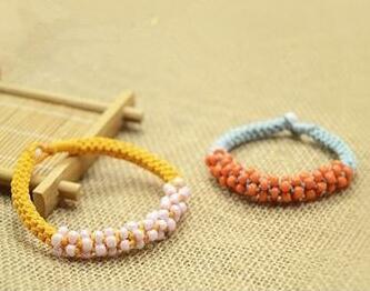 圆柱形串珠手链编法图解