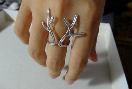 圣诞麋鹿角戒指DIY图解