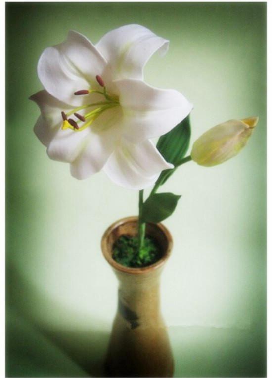 粘土一束花的步骤图片