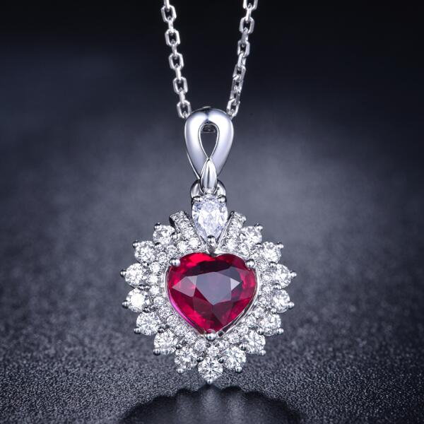佐卡伊红宝石,项链 项链,红宝石项链,女士项链
