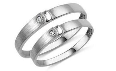 钯金戒指,对戒,情侣对戒