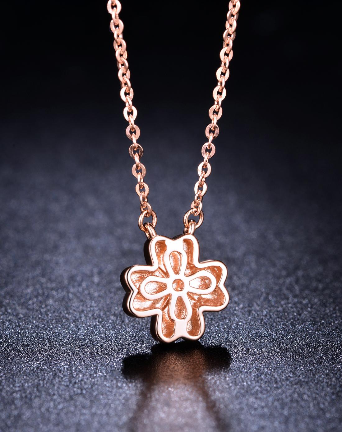玫瑰金项链,项链,佐卡伊项链