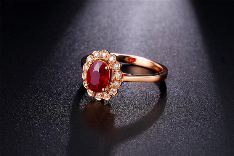 佐卡伊红宝石戒指款式