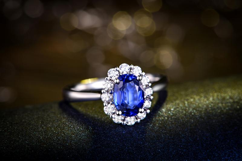 蓝宝石,钻石,戒指