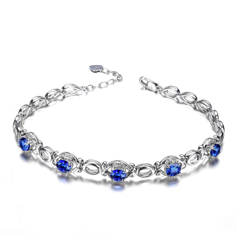 蓝宝石,手链