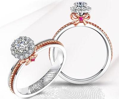 指纹戒指,钻戒