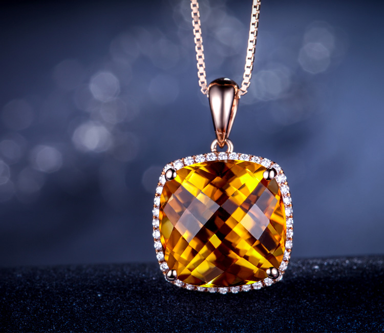 黄水晶,水晶吊坠,水晶收藏