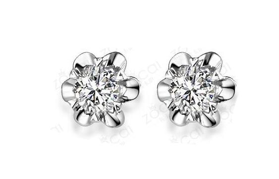 郁金珠宝钻石耳钉,耳钉,佐卡伊耳钉