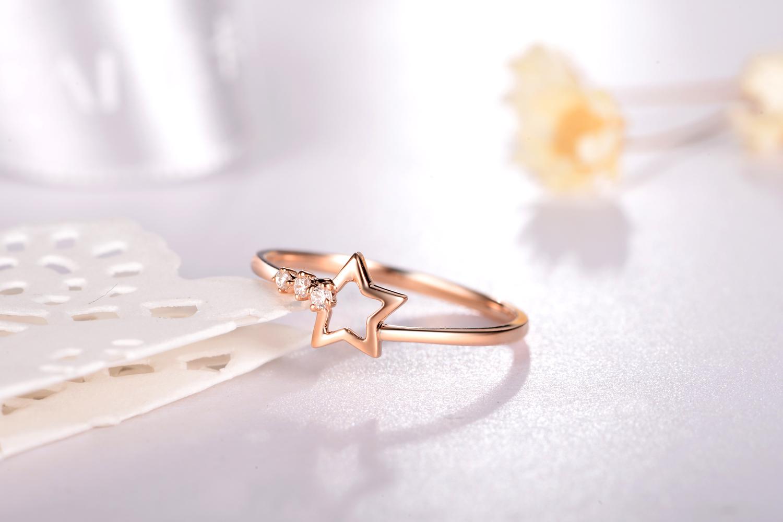 钻石戒指,玫瑰金首饰,钻戒
