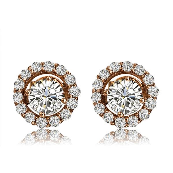钻石耳钉,耳钉,钻石