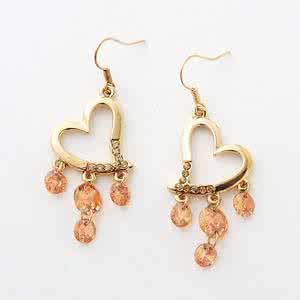 橙水晶,橙水晶耳环,佐卡伊耳环