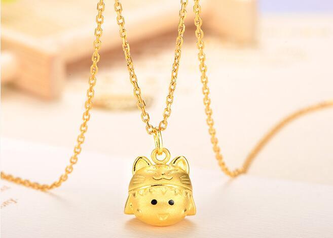 黄金首饰,黄金吊坠,黄金小丸子
