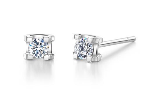 我爱钻石钻石耳钉,耳钉,佐卡伊耳钉