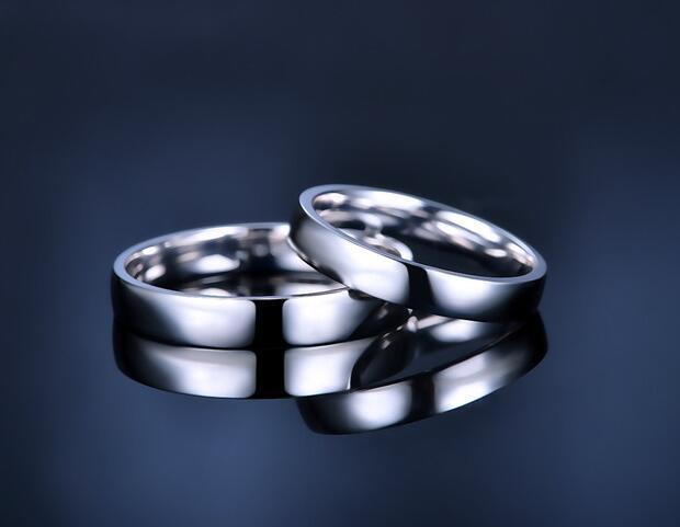 白金对戒,情侣对戒,情侣戒指
