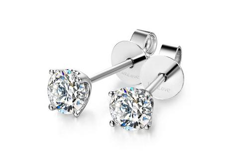 唯爱钻饰钻石耳钉,耳钉,佐卡伊耳钉