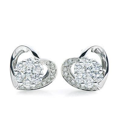 唐秋珠宝钻石耳钉,耳钉,佐卡伊耳钉