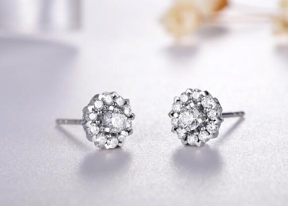钻石耳钉,元旦礼物,耳饰