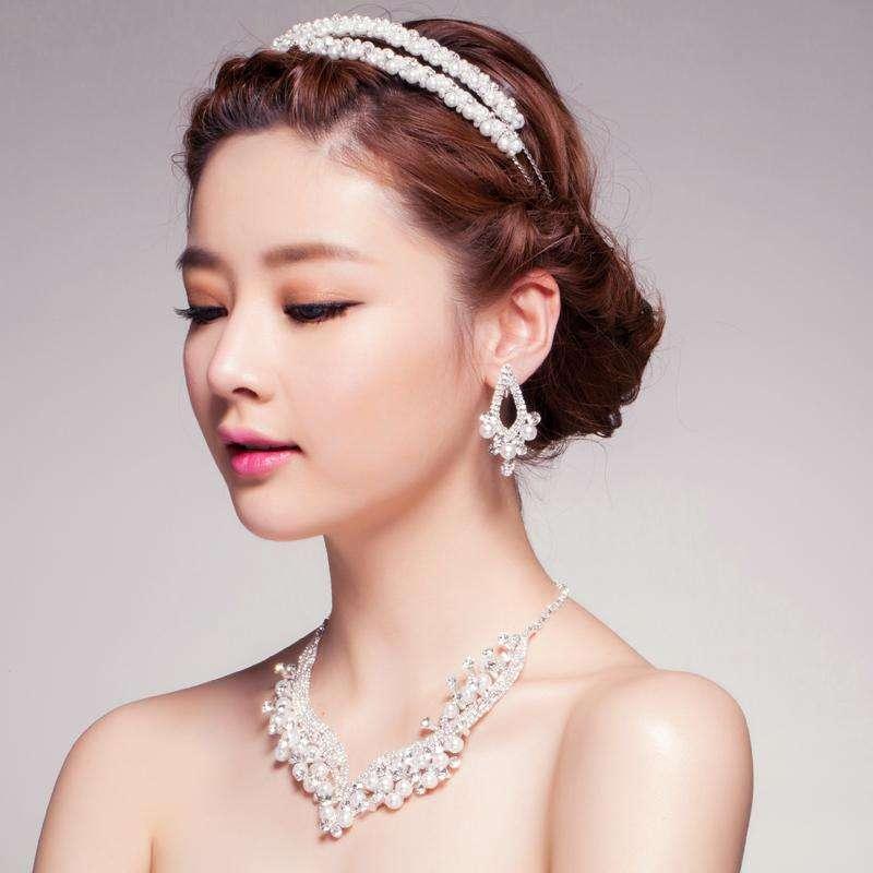 婚纱与首饰,珍珠首饰,珍珠项链