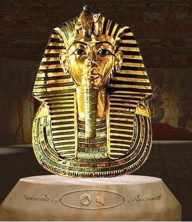 图坦卡蒙王的黄金面罩 埃及法老的荣光图片