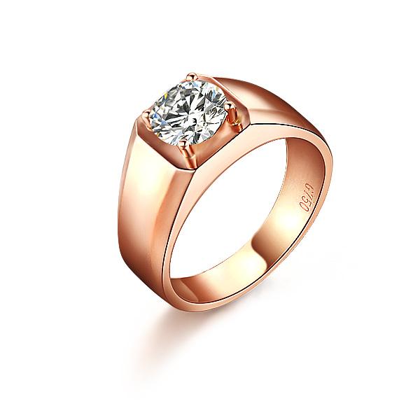 》》点击进入【唯美骑士】 18K 彩金钻戒钻石戒指100分男士戒指