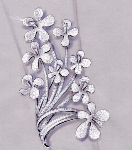 国经典珠宝设计手稿赏析